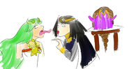 Palutena, tharja and zelda