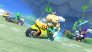 Rosalina on daisys bike