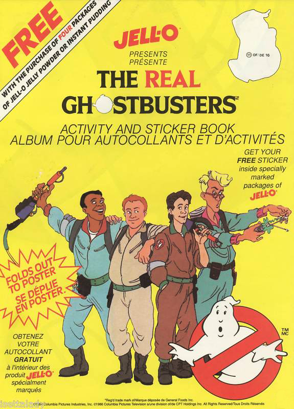 Jell-o The Real Ghostbusters Promotion