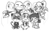 ChibiZag Group Sketch