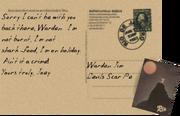 Postcard to Warden