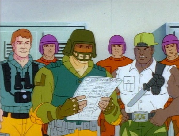 File:Grid-Iron Reading Newspaper along Scoop, Heavy-Duty and the Joes Troops.jpg