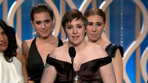 "Best TV Series - Comedy or Musical ""Girls"" - Golden Globe Awards"