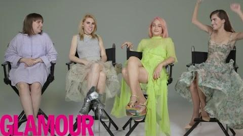 """How Well Does the Cast of """"Girls"""" Really Know Each Other? Glamour"""