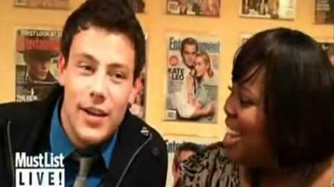 Cory Monteith and Amber Riley He Had Earrings!