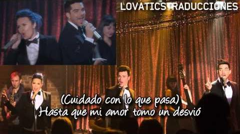 The Happening Glee Cast Chris Colfer, Demi Lovato y Adam Lambert Traducida al Español