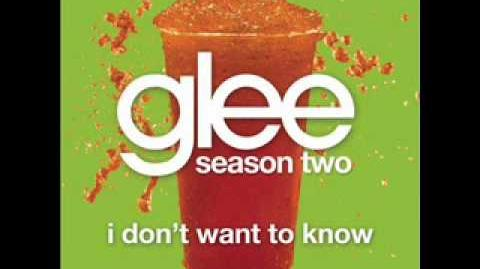 I Don't Want To Know - Glee Cast Version (With Lyrics)