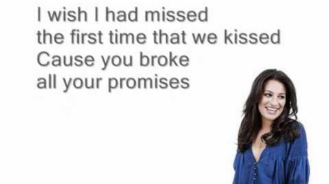 Jar of hearts - Glee (Lyrics)