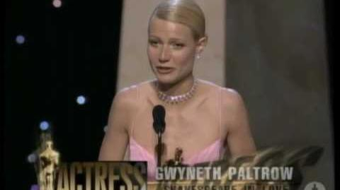 "Gwyneth Paltrow winning an Oscar® for ""Shakespeare in Love"""