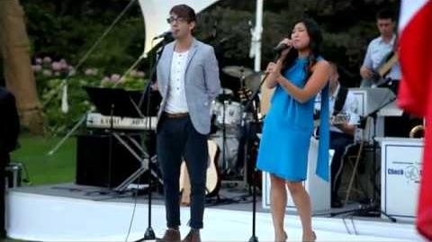 "Kevin McHale (GLEE - Artie) and Jenna Ushkowitz (GLEE-Tina) singing ""Let It Be"""