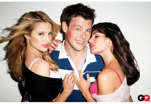 File:Thumbs cory monteith as finn hudson lea michele as rachel berry and dianna agron as quinn fabray sexy posing for gq.jpg