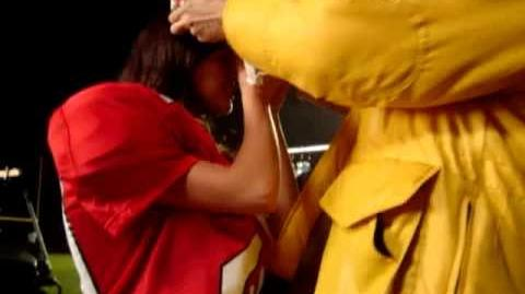 Lea and Cory on Glee set