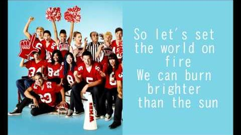 GLEE-We are young with lyrics