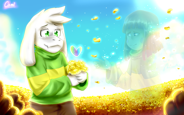Archivo:Asriel from glitchtale by camilaanims-daj7ih4.png