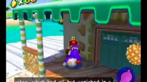 Super Mario Sunshine - Floating Fruit Glitch and Yoshi in Nozzle Box Glitch
