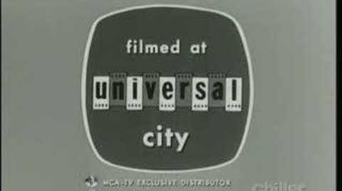 Universal Television Blinking Negatives Logo (1963-A) B&W