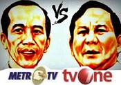 Jokowi MetroTV vs Prabowo tvOne