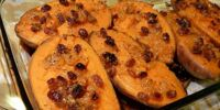 Candied Sweet Potatoes with Apples and Raisins