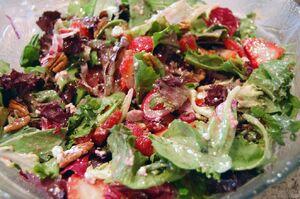 Rasp. vinaigrette salad