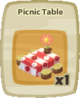 Inv Picnic Table