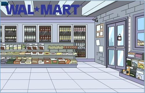 Walmart Inside (with old logo)