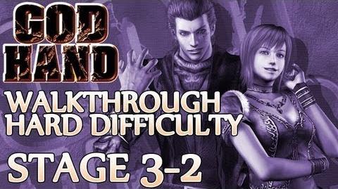 ★ God Hand Walkthrough ▪ Hard Mode - Stage 3-2 ▪ Gorilla Mask Boss Fight