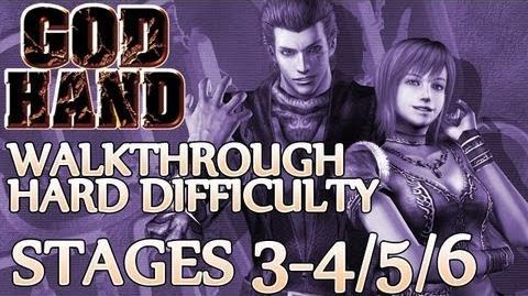 ★ God Hand Walkthrough ▪ Hard Mode - Stage 3-4 3-5 3-6 ▪ Mad Midget V Boss Fight 1