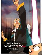 The king using monkey claw