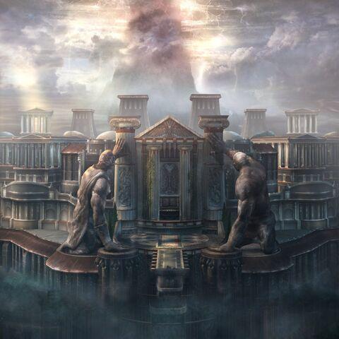 Imagen entrada del palacio de los god of war for God of war 3 jardines del olimpo