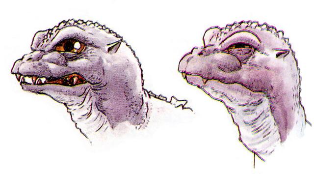 File:Concept Art - Godzilla vs. MechaGodzilla 2 - Baby Godzilla Head 4.png