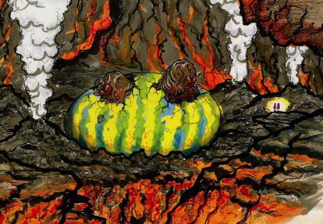 File:Concept Art - Godzilla Tokyo SOS - Mothra Larva 3.png