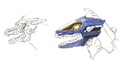 Concept Art - Godzilla Against MechaGodzilla - Kiryu Head 6