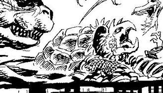Kamerus as it is seen in Dark Horse Comic's Godzilla King of the Monsters