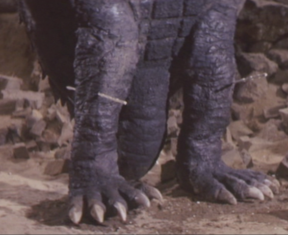 File:Gamera - 5 - vs Jiger - 21 - Gamera gets some sticks in his limbs thanks to Jiger.png