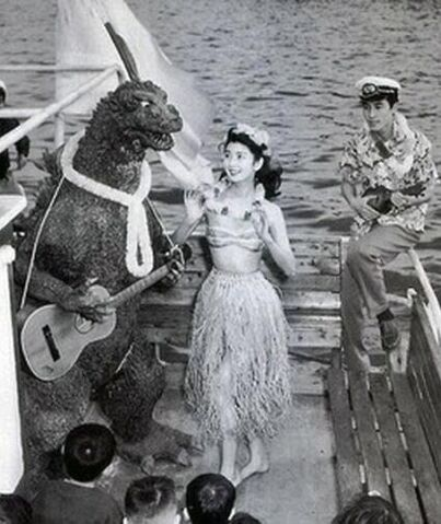 File:History In Pictures - Godzilla Cast Has Party After Finishing Filming (1954).jpg