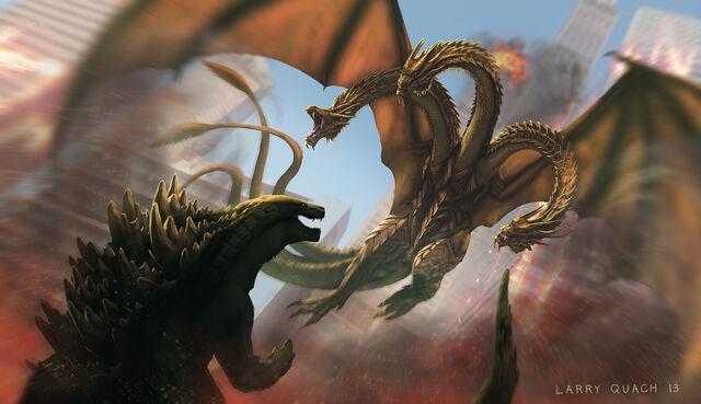 File:Godzilla vs king ghidorah by nobackstreetboys-d5wwcbi.jpg