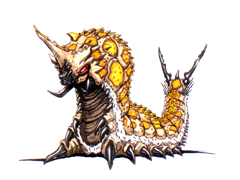 File:Concept Art - Godzilla vs. Mothra - Battra Larva 14.png