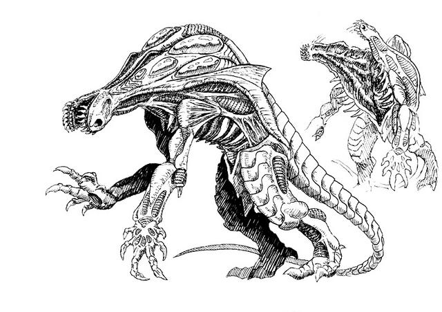 File:Concept Art - Godzilla 2000 Millennium - Orga 101.png