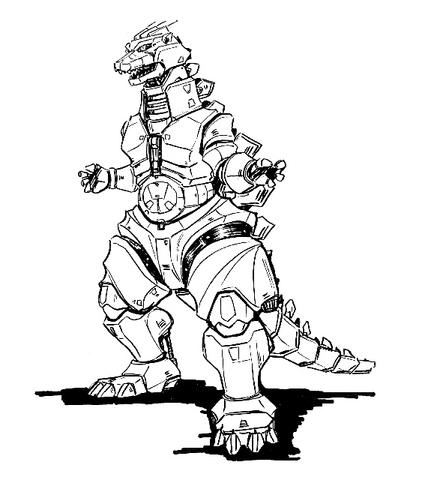 File:Concept Art - Godzilla Against MechaGodzilla - Kiryu 28.png