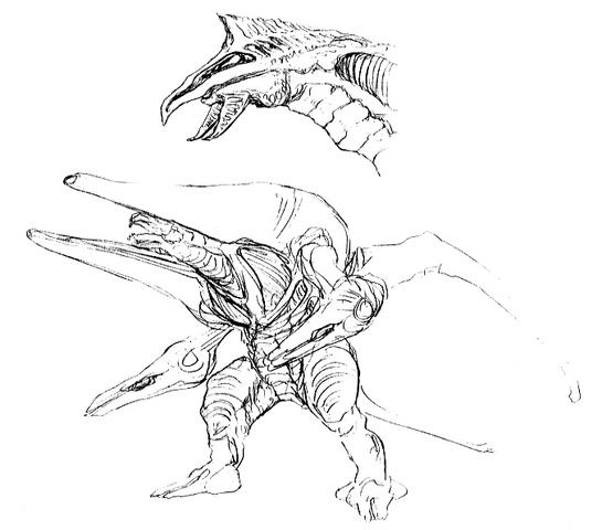 File:Concept Art - Godzilla 2000 Millennium - Orga 55.png