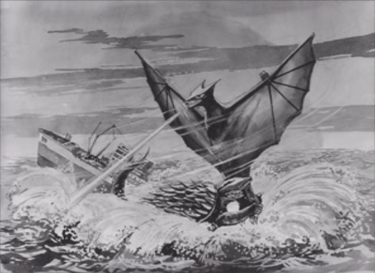 File:Gamera - 3 - vs Gyaos - 99999 - 9 - Gamera and Gyaos Drawing.png
