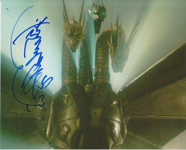 File:GODZILLA-signed-photo-Kenpachiro-Satsuma-PROOF-autograph-Ghidorah-monster-arts $ 57.JPG