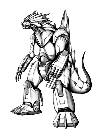 File:Concept Art - Godzilla Against MechaGodzilla - Kiryu 29.png