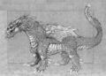 Concept Art - Rebirth of Mothra - Desghidorah 1
