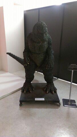 File:Great Godzilla 60 Years Special Effects Exhibition photo by Joseph Ruleau - Godzilla Junior 2.jpg