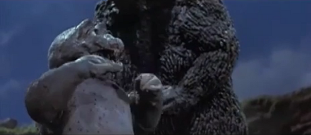 File:Son of Godzilla 7 - Minilla tries breathing atomic breath.png