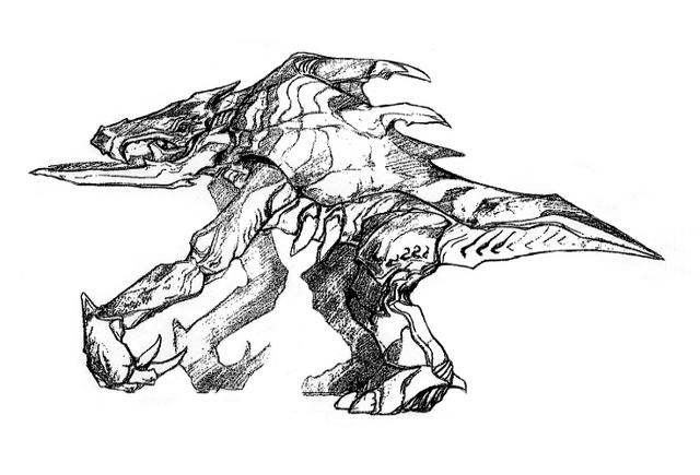 File:Concept Art - Godzilla 2000 Millennium - Orga 68.png