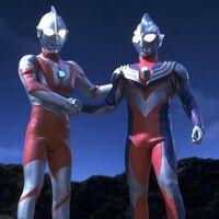 Ultraman and Tiga