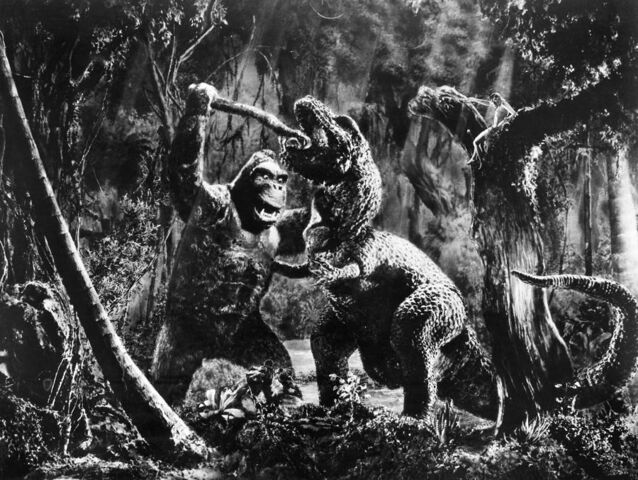 File:King Kong 1933 Kong vs. T-Rex Production Pic.jpg