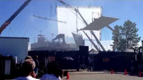 Godzilla filming, Richmond BC